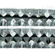 水晶ボタン  4*8mm 1連(約40cm)[R466]