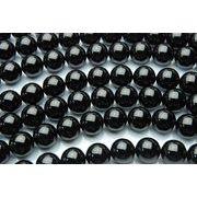 【ブラックトルマリン】 10mm 1連(約40cm)_R523/A6-1