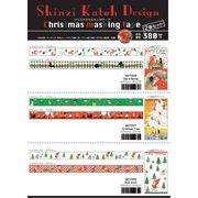 シンジカトウ  クリスマスマスキングテープ  2巻セット 15mm*10m Shinzi Katoh 2pcs set masking tape
