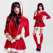 【即日出荷】長袖 サンタコスチューム クリスマス/コスプレ衣装 【9222】