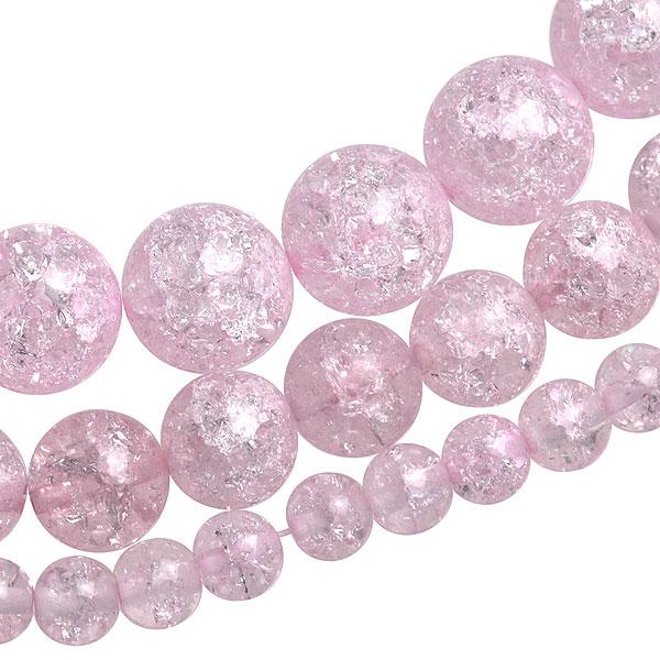 ▼MAGGIO▼【生活をスムーズに】あらゆるシーンに対応する♪ ピンクロッククリスタル丸玉1連