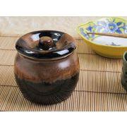 【お漬物やお惣菜の保存に】 昔ながらの陶器のカメ 特大