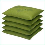 通販売れ筋  ・ 緑 銘仙版 ハイウエイ柄座布団 (5枚組) 緑  日本製