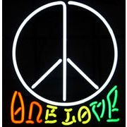 ONE LOVE LOVE&PEACE  (ネオン管 看板 アメリカン雑貨 ・NEON SIGN・ネオンサイン)