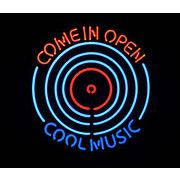 COOL MUSIC COME IN OPEN  (ネオン管 看板 アメリカン雑貨 ・NEON SIGN・ネオンサイン)