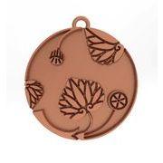 花付き葵の丸2 家紋 トップのみ ピンクゴールド