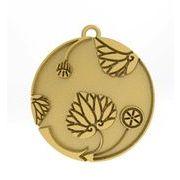 花付き葵の丸2 家紋 トップのみ シルバー925 14Kゴールド