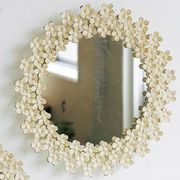 SHABBY FLORAL MIRROR RD L