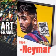 ポップアートフレーム 壁掛け 25cm×25cm Neymar_Jr