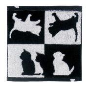 【ネコ/CAT(猫)】今治タオルハンカチ ネコ