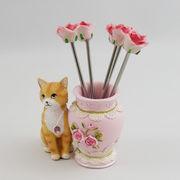 猫フルーツピックスタンド(黄)