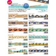 Vol.3 DecoDecoRoll 型抜きマスキングテープ 日本製 20mm*5m ASAMIDORI shaped masking tape