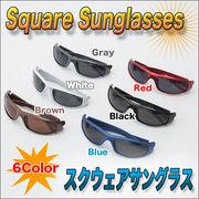◇強い日差しやアウトドアに!◇ドライブにも最適◇オシャレなスクウェアサングラス 選べる6カラー