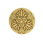 蔓三つ葵 家紋 ピンバッチ 18Kゴールド
