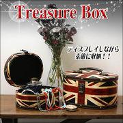 ヴィンテージ風ユニオンジャックのトレジャーBOX☆イギリス☆宝箱☆収納☆入れ子式 2個セット