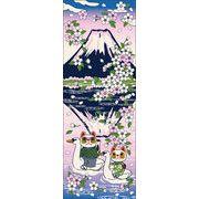 福まねき猫_逆さ富士 日本手ぬぐい