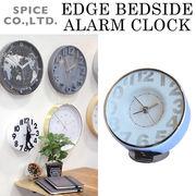 ■スパイス■■SALE■ EDGE BEDSIDE ALARM CLOCK TRANSPARENT WHITE
