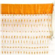 【SALE/値下げ】♪リリアンフラワーのかわいいカーテン(オレンジ)♪