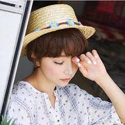 ★大人気ラフィアハット★ レディスファッション&帽子★草編み帽子★親子