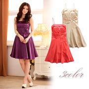 大きいサイズ エレガントなキャミドレス 姫系ドレス 結婚式、パーティードレス フォーマル F/2L/3L/4L 3201