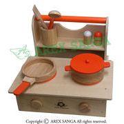 木製ままごと キッチンセット クッキング