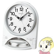 セイコークロック 目覚まし時計 アナログ 大音量 切替式アラーム PYXIS RAIDEN 白パール NR436W SEIKO