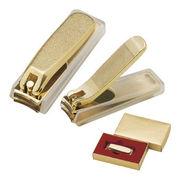 (ヘルシー&ビューティ)(グルーミンググッズ)金メッキ爪切り(小) カバー付 121KC