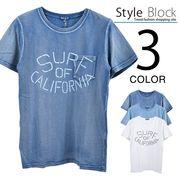 カットデニムプリントポケットTシャツ/sb-255656
