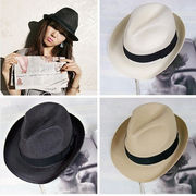 イギリス風★大人気★男女兼用★レディース麦わら帽子★メンズジャズ帽★ピーチ帽子★