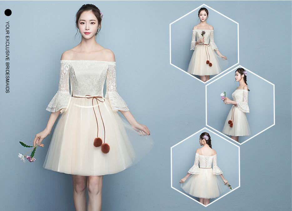 7ab4d6fed6ba7 超人気 花嫁 結婚式ブライズメイド服花嫁の介添えドレス ショート丈プリンセス パーディー