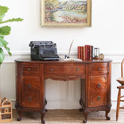 1点物 アンティーク ヴィンテージ 家具 マホガニー材 フレンチライティング デスク