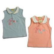 蝶々舞いブラウス風ニットTシャツ(濠Du)85-110cm