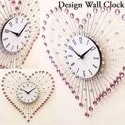 【壁掛け時計】 デザインウォールクロック【ハート】