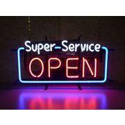 Super Service OPEN (ネオン管 看板 アメリカン雑貨 ・NEON SIGN・ネオンサイン)