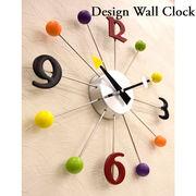 【壁掛時計】デザインウォールクロック【ボール】