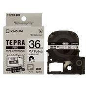 キングジム PROテープ マグネット白/黒文字 SJ36S 00008774