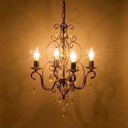 LED電球対応★ 4灯シャンデリア★ロメオ ダークゴールド♪