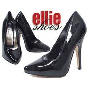 LA直輸入♪ellie shoes(エリーシューズ)ハイヒールパンプス/ピンヒール【ブラックエナメル】