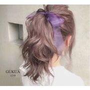 bc138496◆即納◆レディース シフォン 簡単なヘアアレンジ ヘアゴム/バレッタ