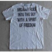 クラッシュタイポグラフィー メッセージプリントTシャツ
