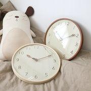 ハンドメイド 300ウッド 木の葉 木製掛け時計