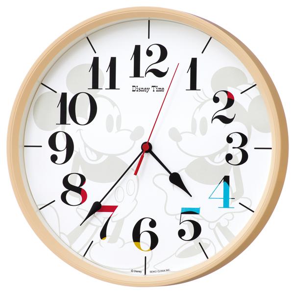 【新品取寄せ品】 セイコー製 電波掛時計♪ディズニータイム♪ ミッキーフレンド FW584A