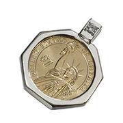 【本物コイン使用!ワールドコインシリーズ】USA1ドルコインペンダントトップ