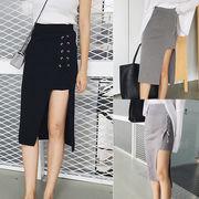 レディース ファッション 左右非対称 フレアー スカート 大人気 全2色 Vxbbw-1608a4316