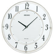【新品取寄せ品】セイコークロック ソーラー電波掛時計SF506W