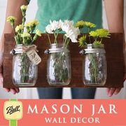 壁掛け メイソンジャー 3連 Ball Mason jar クリアー