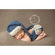 ベビーコスチューム 衣装 ハロウィン 毛糸 仮装 写真撮影用 出産祝い 新生児 記念撮影 子供服