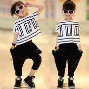 女の子2点セット ドルマンTシャツ サルエルパンツ ダンス服 ダンス衣装 ヒップホップキッズ 子供服