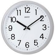 【新品取寄せ品】リズム時計製 掛時計デイリー「フラットフェイスF」4KGA06DN19