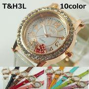 ★ジュエル&フェミニン★ T&Hレディース腕時計 PUレザーベルト 日本製ムーブメント
